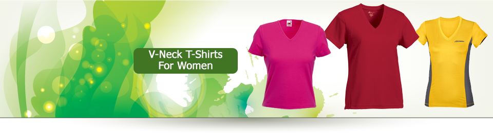 Ladies V Neck Tshirts