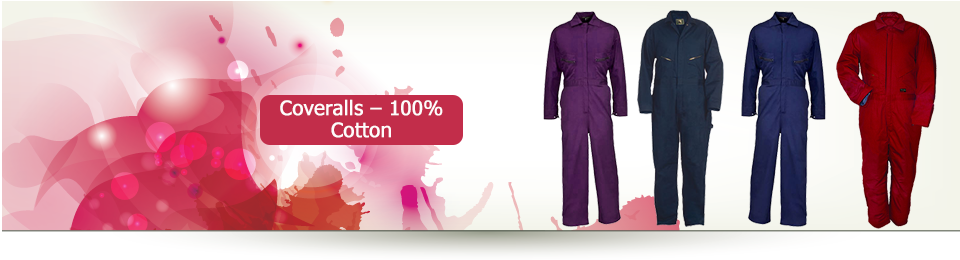 Coveralls – 100% cotton